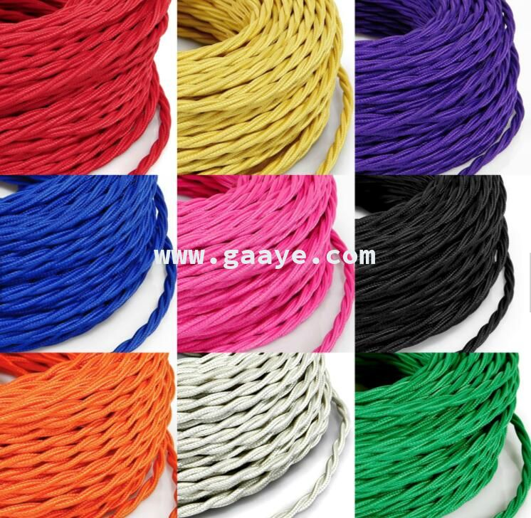Decorative Lighting Accessories Electrical Fabric Cable
